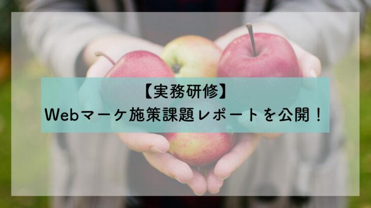 【実務研修】長野りんご農家フルプロ様へのWEBマーケ施策提案を行いました